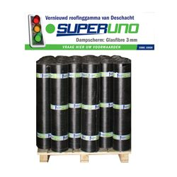 SUPERUNO DAMPSCHERM/GLASVLIES 3MM 10M² T/MEC