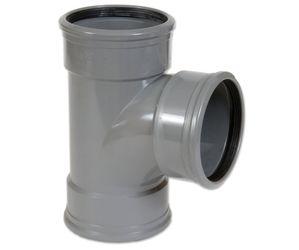PVC T-STUK 88° GRIJS BENOR 160MM 3XMOF SN4