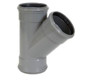 PVC T-STUK 45° GRIJS BENOR 200MM 3XMOF SN4